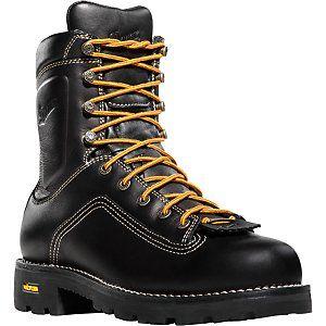 Danner Quarry™ Alloy Toe Black Work Boots Shoes