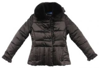 Rothschild Girls Faux Fur Trim Quilted Polished Jacket   2