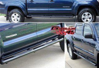 Fits 2005 2013 Toyota Tacoma Double Cab 4Black Nerf Bars # TB4058B