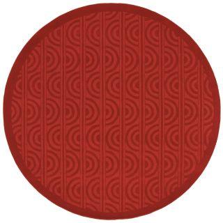 Hand crafted Wool Red Tamarack Rug (79 Round)