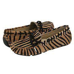 Steve Madden Deerr Black/Tan Zebra Flats