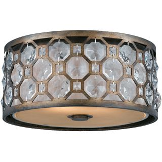 Cartier 2 light Flushmount in Weathered Bronze