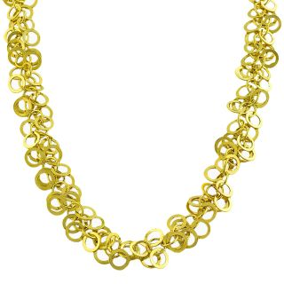 14k Yellow Gold Multi rolo Link Necklace