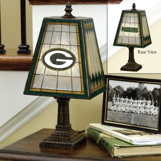 Green Bay Packers 14 inch Art Glass Lamp