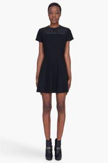 Proenza Schouler Black Leather Detailed Shift Dress for women