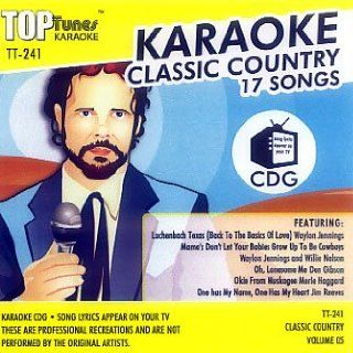 Top Tunes Karaoke CD+G Classic Country Vol. 5 TT 241