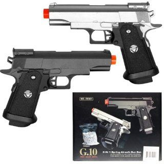 GUN SET Dual Spring Airsoft Hand Gun Kit FPS 235 Sports & Outdoors
