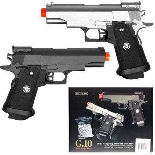 GUN SET Dual Spring Airsoft Hand Gun Kit FPS 235 Sports & Outdoors