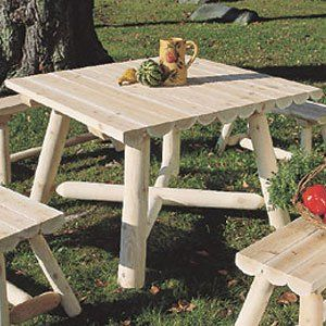 Rustic Natural Cedar Furniture Large Square Table Home