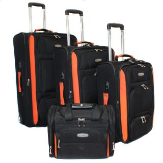 Bell + Howell Orange Quick Access 4 piece Expandable Luggage Set Today