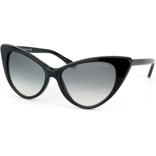Tom Ford Womens TF 173 TF0173 Nikita Black Cat Eye Sunglasses