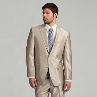 Sean John Mens 2 button Tan Wool Suit FINAL SALE