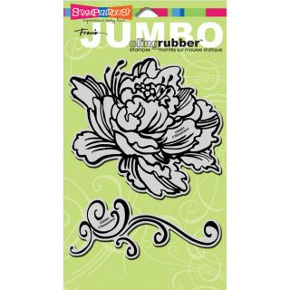 Peony Stampendous Jumbo Cling Rubber Stamp