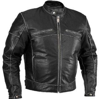 River Road Rambler Mens Vintage Leather Harley Motorcycle Jacket