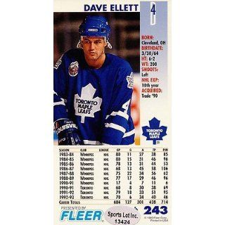 Toronto Maple Leafs 1993 1994 Power Play Signed Card # 243 SL COA