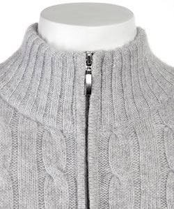 LEVRIERI Womens Full zip Italian Cashmere Sweater