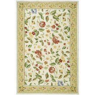 Hand hooked Boni Ivory/ Beige Wool Rug (53 x 83)