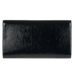 Yves Saint Laurent 203855 Large Black Patent Leather Clutch