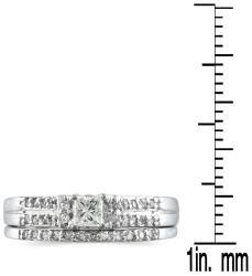 10k White Gold 2/5ct TDW Diamond Bridal Ring Set