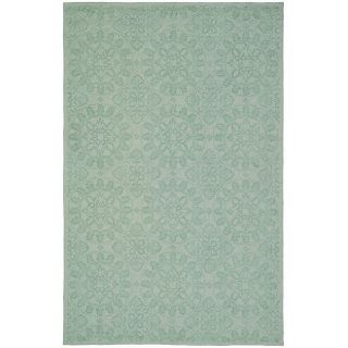 Martha Stewart Terrazza Turquoise Cotton Rug (79 x 99)