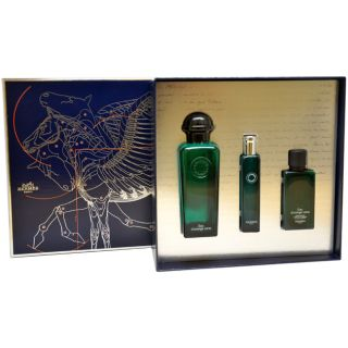Hermes Eau dOrange Verte Mens Three piece Gift Set (Daytime Wear