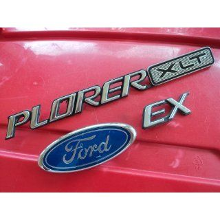 Ford Explorer XLT Rear Trunk script emblem letters badge