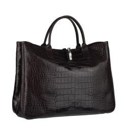Longchamp Roseau Embossed Leather Tote Bag