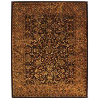 Handmade Taj Mahal Burgundy/ Gold Wool Rug (11 x 17)