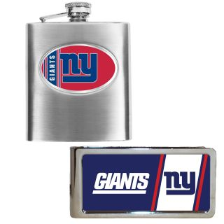 New York Giants Hip Flask and Money Clip Set