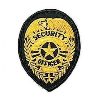 Gold Security Officer Badge Patch Clothing