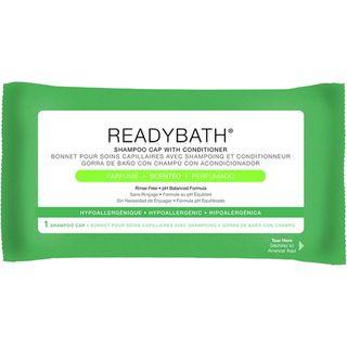 Medline ReadyBath Rinse Free Shampoo and Conditioning Caps, Scented