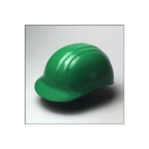 67 Bump Cap Hard Hat, Green, 4 Pt. Suspension, Pin Lock, 19118