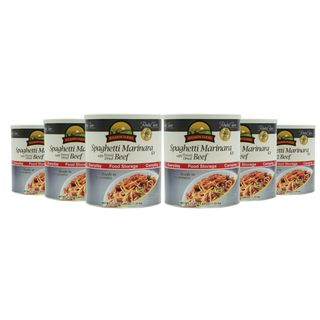 Augason Farms Spaghetti Marinara with Freeze Dried Beef 6 Pack