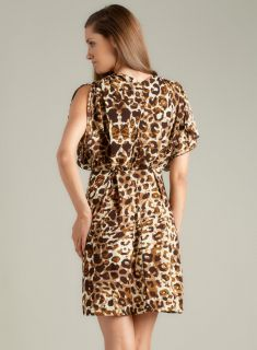 Calvin Klein Flutter Sleeve Animal Dress