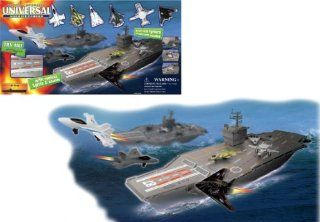 Deluxe Mega Aircraft Carrier Playset With Sound And Lights