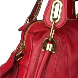 Chloe Paraty Small Red Leather Satchel