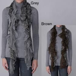Journee Collection Womens Zebra Print Mesh Scarf