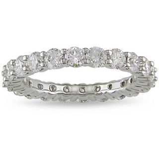 18k White Gold 3ct TDW Diamond Eternity Ring (H I, SI2)