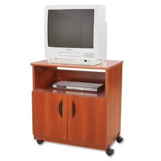 Safco Mobile Machine Stand, Cherry