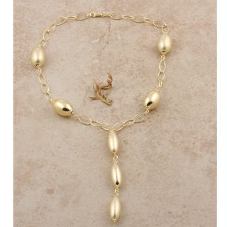 Gold Vermeil Hollow Ovals Y Link Necklace (Italy)