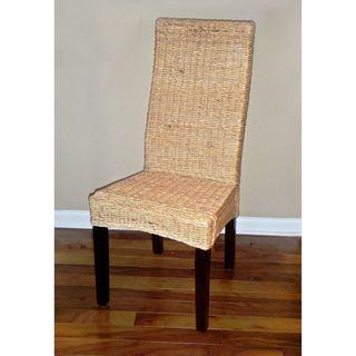 Solid Mahogany Frame Romero Twisted Banana Leaf Chair (Set of 2