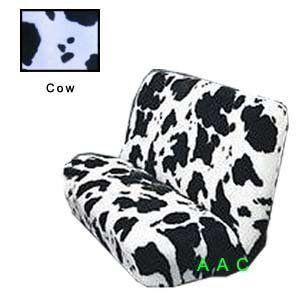 Universal fit Animal Print Bench Seat Cover   Cow