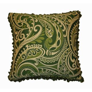 JAR Designs Paisley Green Throw Pillow