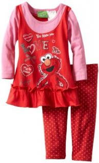 Sesame Street Baby girls Infant 2 Piece Dress and Pant