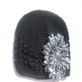 Bow Clippeez 2 Envy Black Hat and Zebra Flower Clip