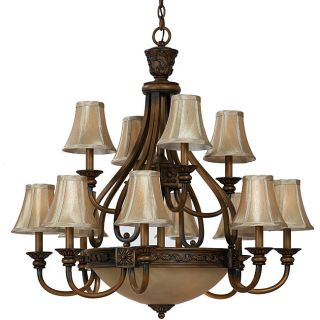 Vintage Collection 15 light Weathered Teak Chandelier