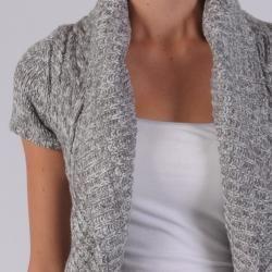 Ci Sono by Adi Juniors Cable Knit Cardigan Sweater