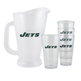 New York Jets NFL Pitcher and Pint Glasses Set
