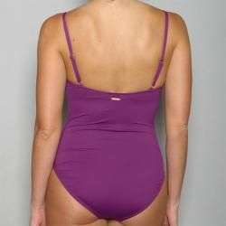 Anne Cole Womens 1 piece Plum Maillot Swimsuit