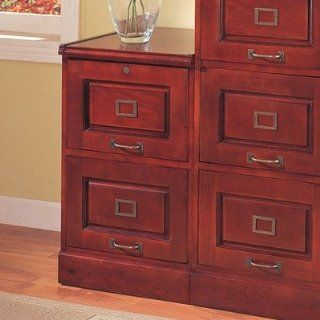 Two Drawer Cherry File Cabinet   Coaster 800304: Home